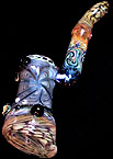 .color changing glass bubbler.